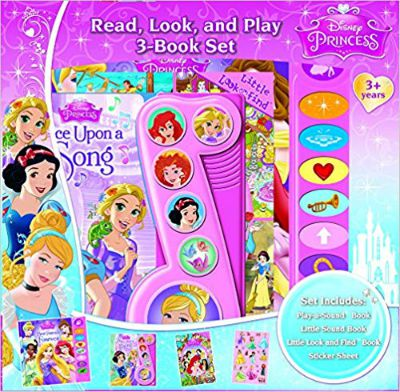 Disney Princess Read, Look, and Play 3-Book Set
