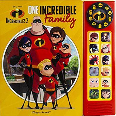Disney-Pixar Incredibles 2 One Incredible Family Deluxe Custom Frame Sound Book