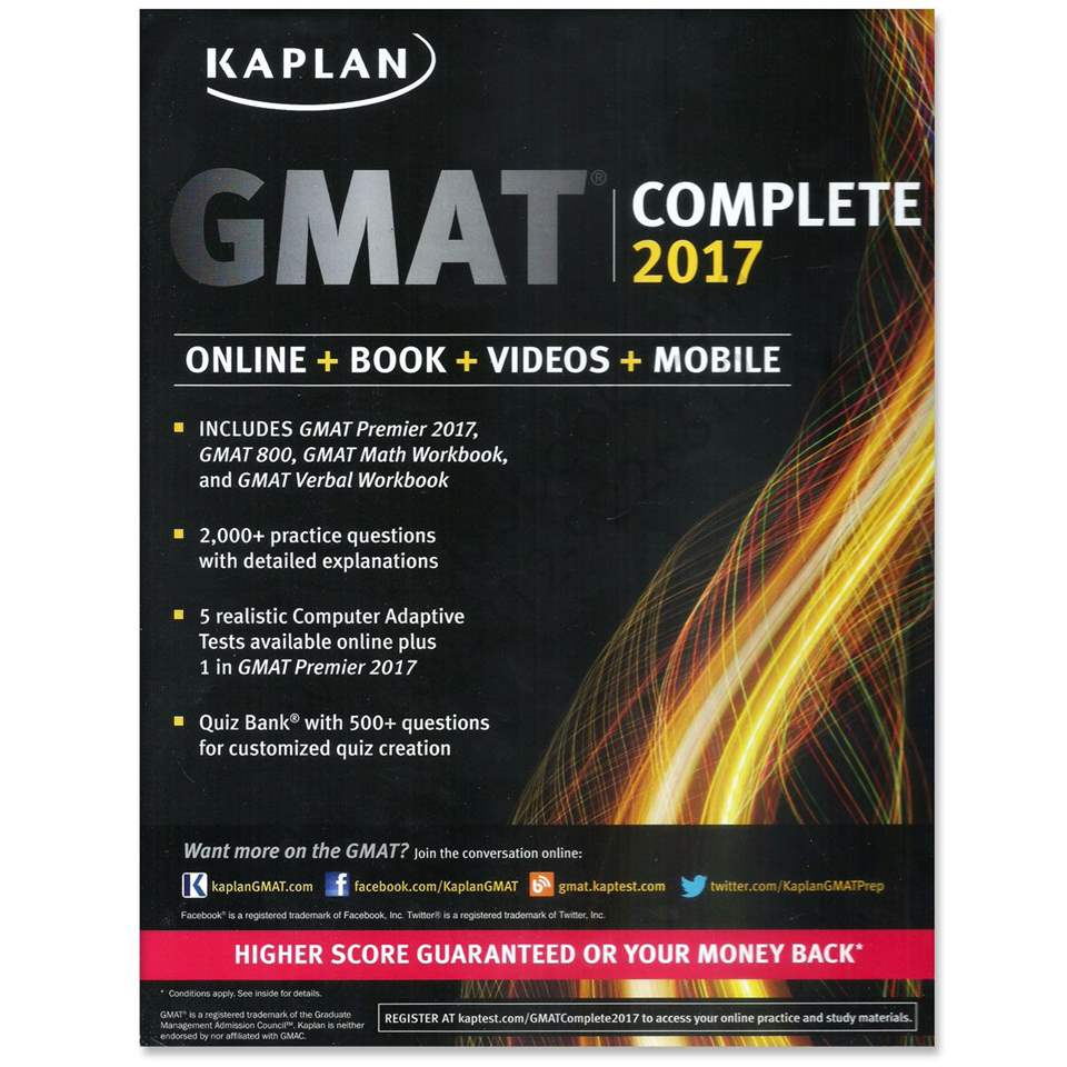GMAT Complete 2017: The Ultimate in Comprehensive Self-Study for GMAT (Online + Book + Videos + Mobile) (Kaplan Test Prep)