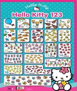 Hello Kitty Wall Chart 123 -