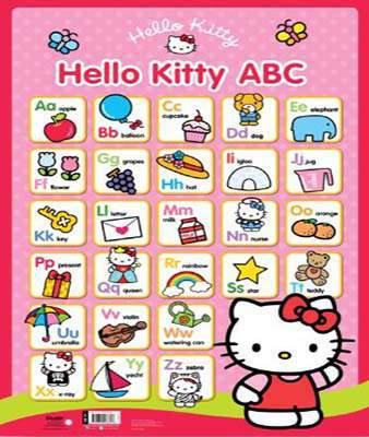 Hello Kitty Wall Chart ABC
