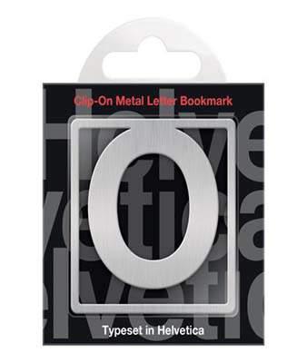 Helvetica Clip-On Letter Bookmark