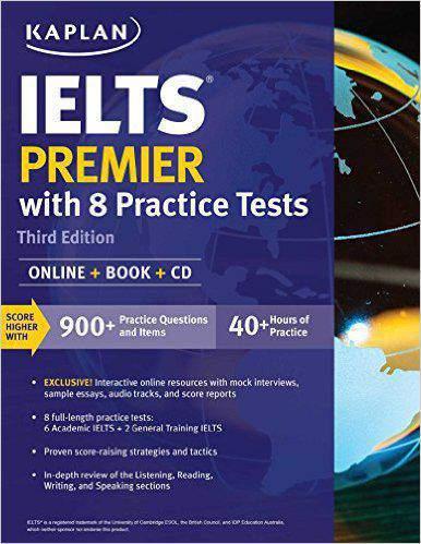 IELTS Premier with 8 Practice Tests Online Book CD Kaplan Test Prep