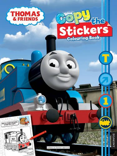 Thomas & Friends Copy The Stickers Colouring Book