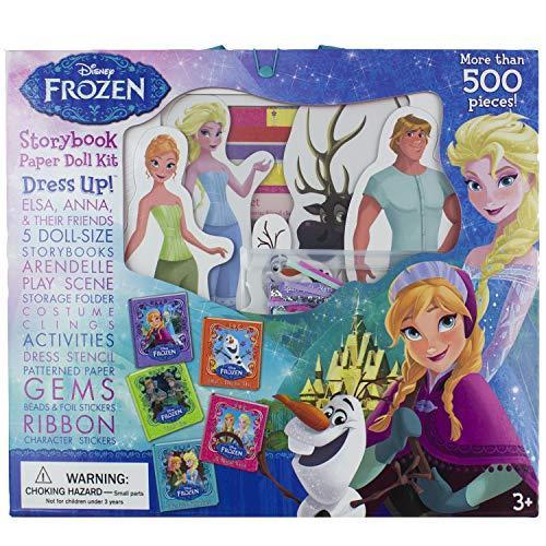 Disney Frozen - Storybook Paper Doll Kit Dress Up! Anna, Elsa, & Their Friends- Pi Kids