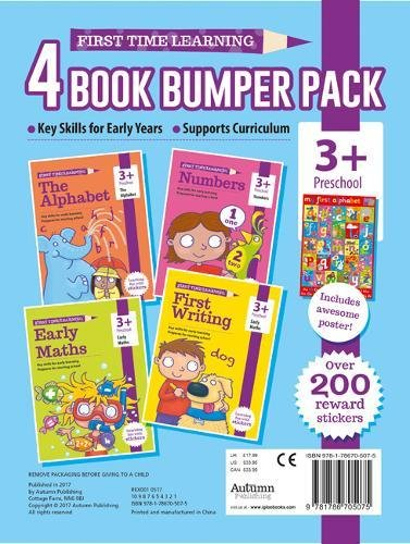 3+ Pack - Alphabet, Maths, Numbers & Writing (essential Workbooks Pack 3+)