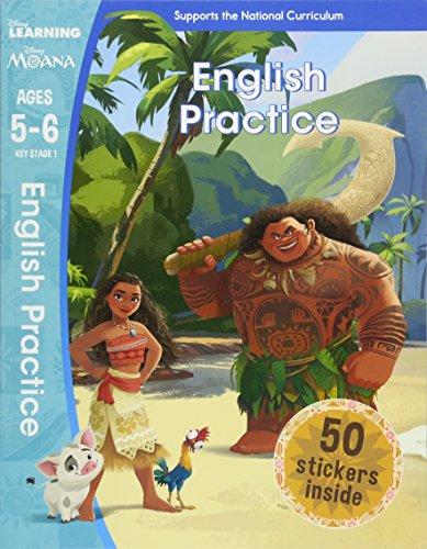 Moana - English Practice (ages 5-6) (disney Learning) - (PB)