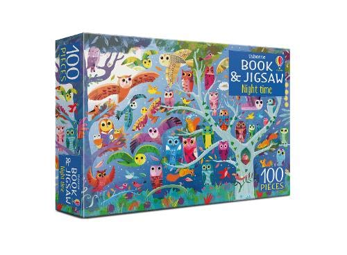 Night Time Book And Jigsaw (usborne Book And Jigsaw)
