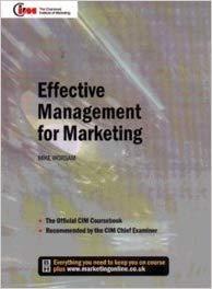 Effective Management For Marketing