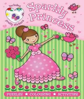 Sparkly Princess Pink (Puzzle Sticker Book) (Puzzle Sticker Books)