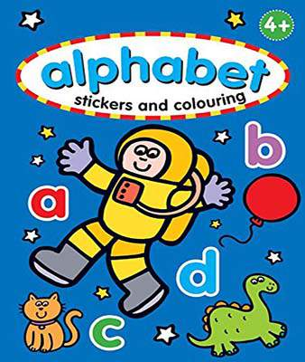 Alphabet Sticker & Colouring Book (Stickers & Colouring)  -  Paperback