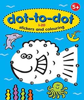 Dot to Dot 1-20 Stickers & Colouring Bk