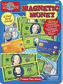 Pretend Play Money Magnetic Tin Play Set