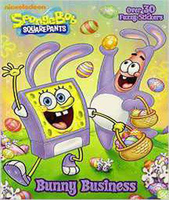 Spongebob Squarepants: Bunny Business (Color Plus Flocked Stickers)