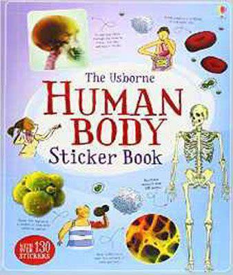 Human Body Sticker Book (Usborne Sticker Books)