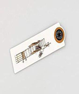 Thinking Gifts Aeroplane CMA Compassmark Bookmark