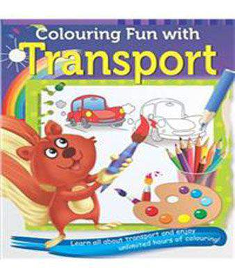 COLOURING FUN WITH TRANSPORT