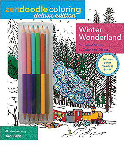 Zendoodle Coloring Winter Wonderland Deluxe Edition with Pencils