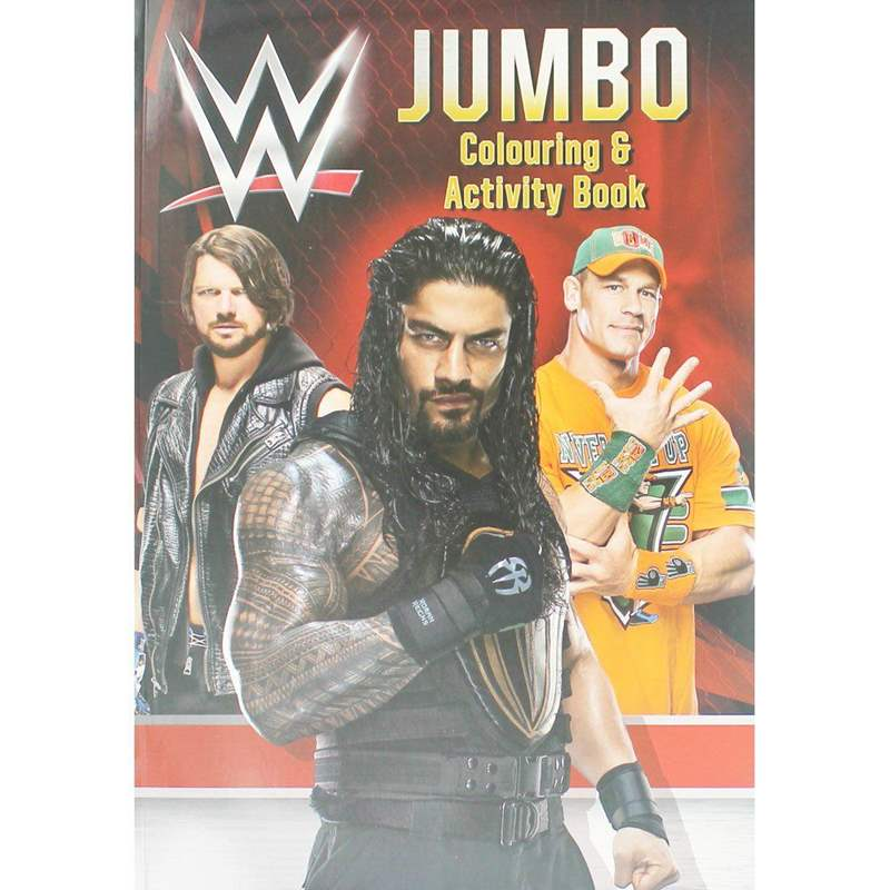 WWE Jumbo Colouring and Activity Book
